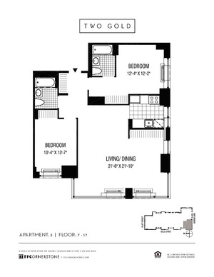 floorplan for 2 Gold Street #803