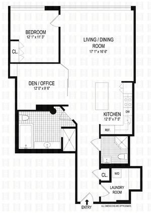 floorplan for 1 Main Street #11G