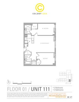 floorplan for 1209 Dekalb Avenue #111