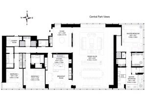 floorplan for 157 West 57th Street #61B