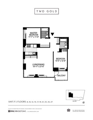 floorplan for 2 Gold Street #21F