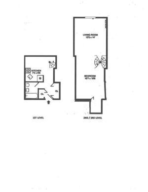 floorplan for 211 Thompson Street #LE