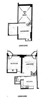 floorplan for 211 Thompson Street #4A