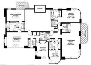 floorplan for 52 East End Avenue #37