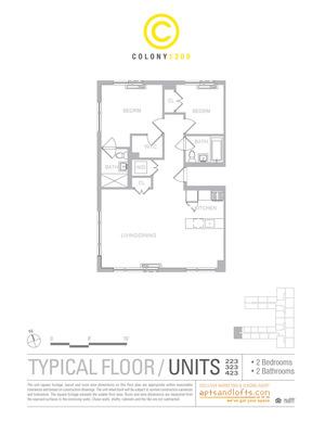 floorplan for 1209 Dekalb Avenue #2423