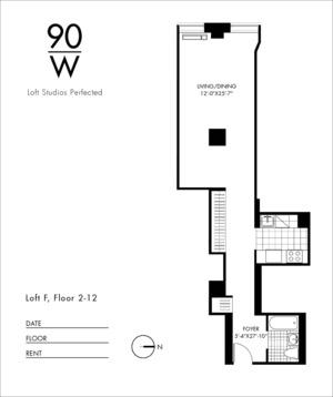 floorplan for 90 Washington Street #10F