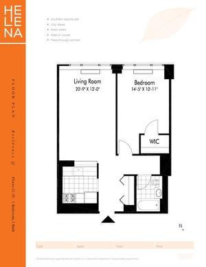 floorplan for 601 West 57th Street #30Q
