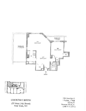 floorplan for 55 West 14th Street #19G