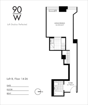 floorplan for 90 Washington Street #24B