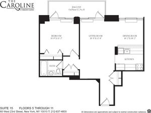 floorplan for 60 West 23rd Street #915