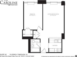 floorplan for 60 West 23rd Street #1042
