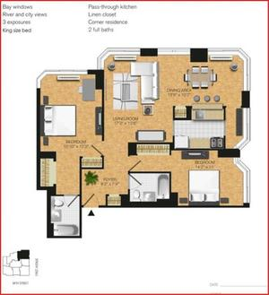 floorplan for 345 East 94th Street #14A