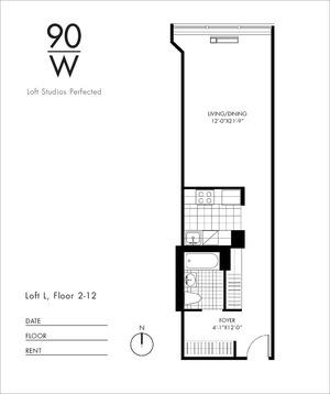 floorplan for 90 Washington Street #10L