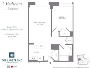 floorplan for 227 West 77th Street #17F