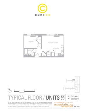 floorplan for 1209 Dekalb Avenue #412