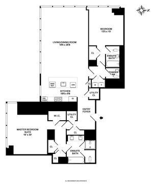 floorplan for 157 West 57th Street #56B