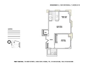 floorplan for 75 West Street #12E