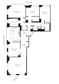 floorplan for 15 Central Park West #11K