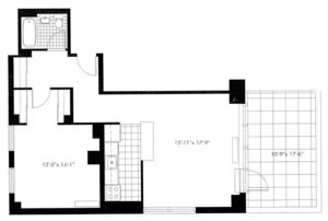 floorplan for 50 Murray Street #0020