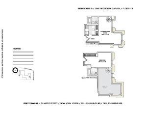 floorplan for 75 West Street #17G