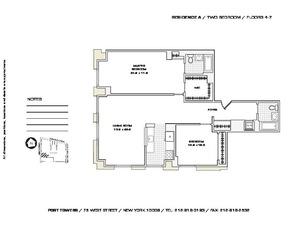 floorplan for 75 West Street #5A