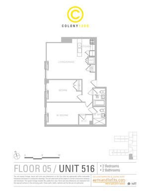 floorplan for 1209 Dekalb Avenue #516