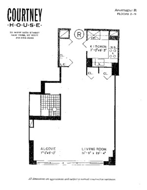 floorplan for 55 West 14th Street #3R