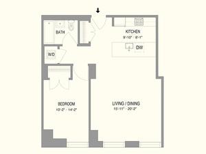 floorplan for 55 West 17th Street #902