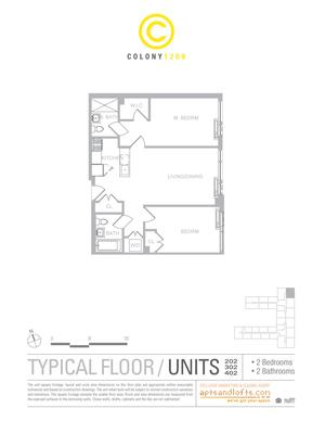 floorplan for 1209 Dekalb Avenue #402