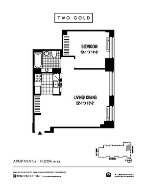 floorplan for 2 Gold Street #2902