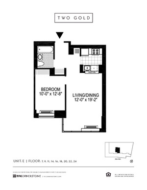 floorplan for 2 Gold Street #24E
