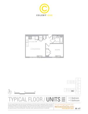 floorplan for 1209 Dekalb Avenue #320