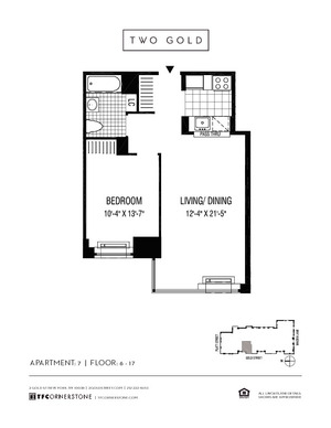 floorplan for 2 Gold Street #1107