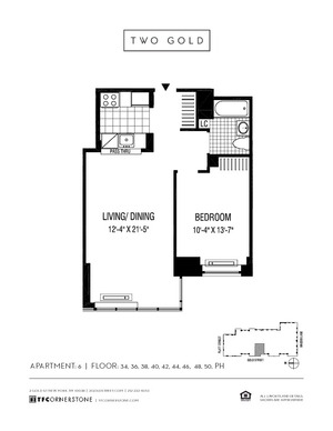 floorplan for 2 Gold Street #4806