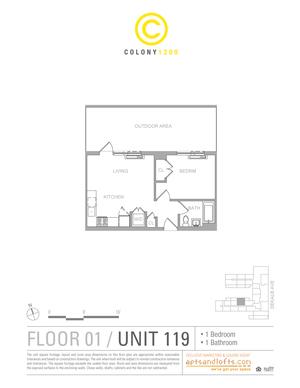 floorplan for 1209 De Kalb Avenue #119