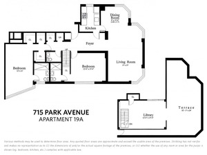 floorplan for 715 Park Avenue #PH19A