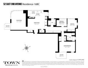 floorplan for 52 East End Avenue #16BC