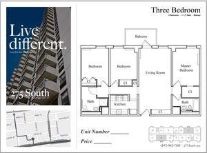 floorplan for 275 South Street #9J