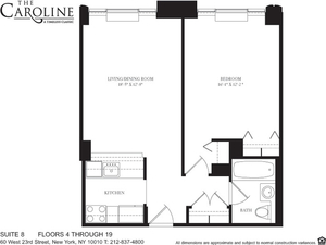 floorplan for 60 West 23rd Street #608