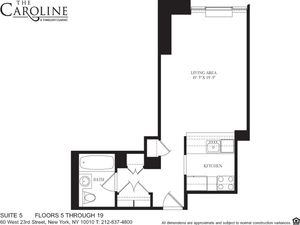 floorplan for 60 West 23rd Street #1505