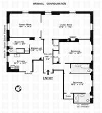 floorplan for 205 West 89th Street #2H