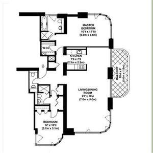 floorplan for 52 East End Avenue #37A