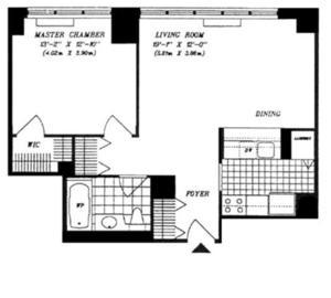 floorplan for 422 East 72nd Street #9B