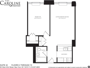 floorplan for 60 West 23rd Street #542