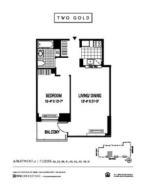 floorplan for 2 Gold Street #4907