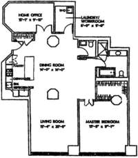 floorplan for 1 Main Street #11L