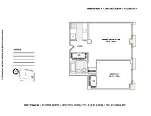 floorplan for 75 West Street #7P