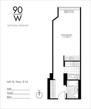 floorplan for 90 Washington #10P