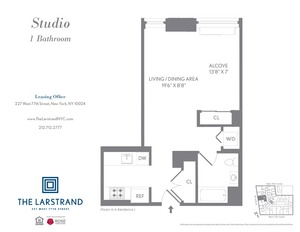 floorplan for 227 West 77th Street , #8J