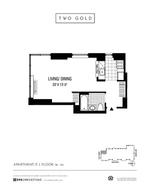 floorplan for 2 Gold Street #2611